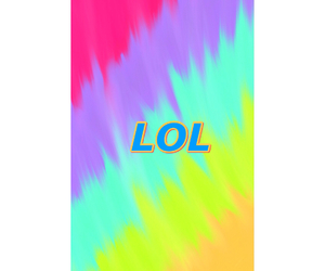 lol, rainbow, and wallpaper image
