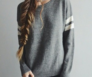braid, hair, and sweater weather image