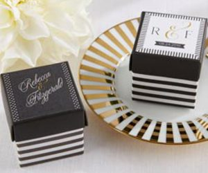 coco chanel bridal shower and favor boxes image