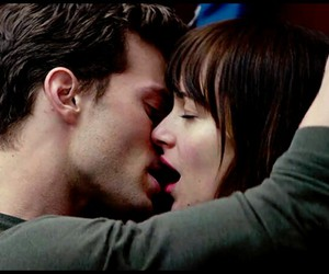 love, fifty shades of grey, and kiss image