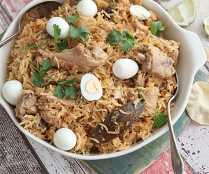 Chicken, indian, and rice image