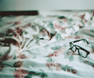 bed, fuck yeah, and glasses image