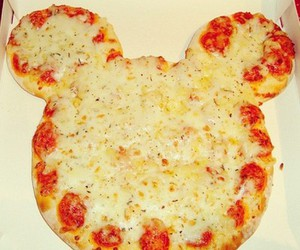 pizza, mickey, and food image