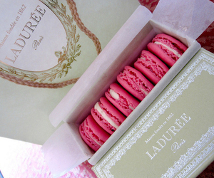 pink, food, and laduree image