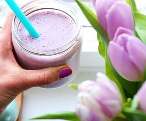 healthy, breakfast, and smoothie image