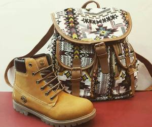 backpack, fashion, and shoes image