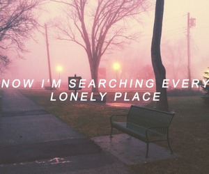 place, Lyrics, and lonely image
