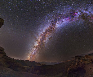 galaxy, landscape, and night image