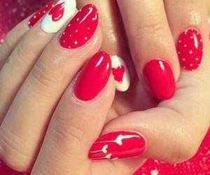 nail art and red image