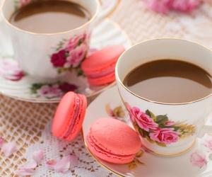 macaroons, coffee, and food image