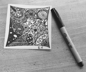 art, black & white, and cool image