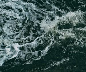 dark, ocean, and water image