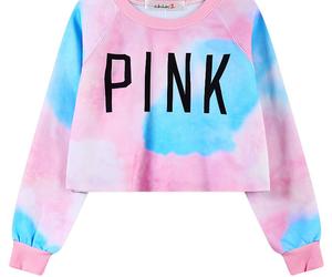 tie dye and crop top. pink image
