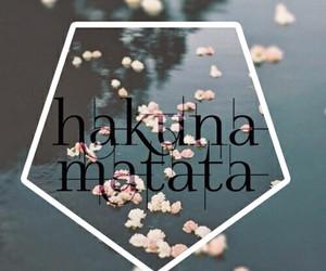 hakuna matata, flowers, and wallpaper image