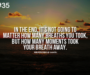 beach, breath, and quote image