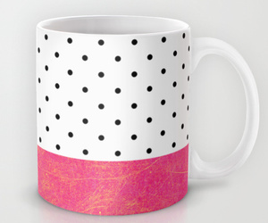 coffee cup, dots, and home image