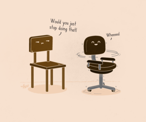 funny, chair, and lol image