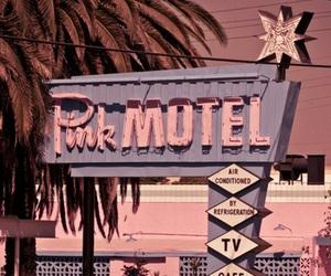 pink, motel, and vintage image