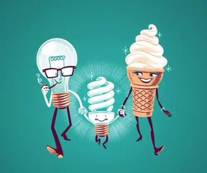 light, ice cream, and cute image