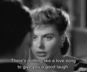 quote, ingrid bergman, and love song image