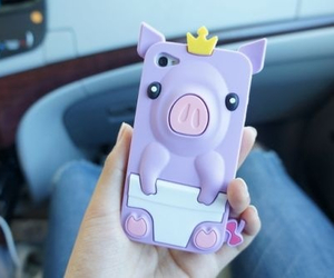 case, iphone, and pig image