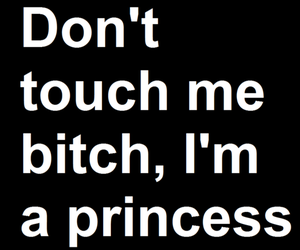 princess, bitch, and quote image