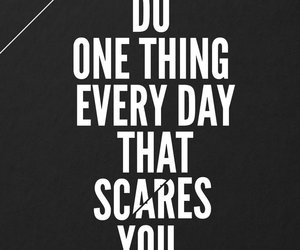 quote, text, and scare image