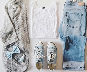 blue, clothes, and converse image