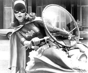 batgirl and black and white image