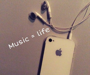 iphone, life, and music image