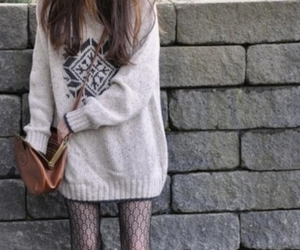 fashion, sweater, and skinny image
