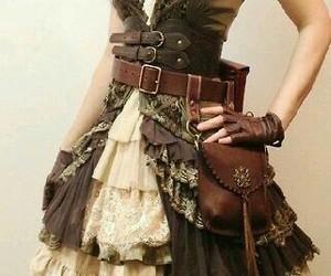 steampunk, dress, and pirate image