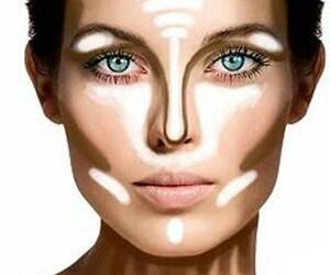 makeup, make up, and contour image