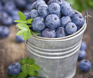 blueberries, food, and fruit image