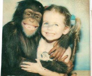 monkey, girl, and smile image