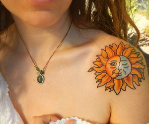 amazing, moon, and tattoo image