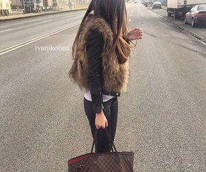 bag, beige, and Louis Vuitton image