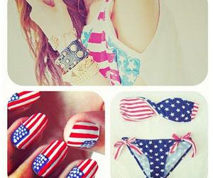 bikini, nails, and fashion image