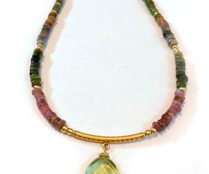 jewelry, tourmaline, and necklace image
