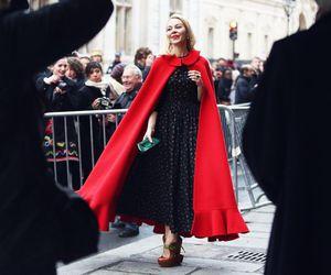 fashion, red, and ulyana sergeenko image