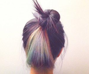 hair, rainbow, and hairstyle image