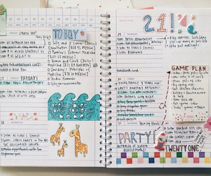 colorful, plan, and school supply image