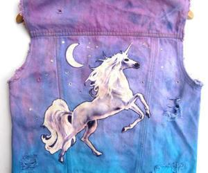 unicorn, vest, and blue image