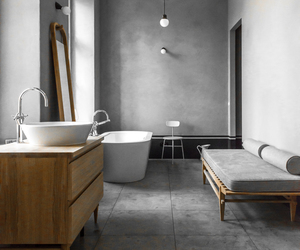 bathroom, grey, and interior image