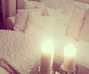 candle, white, and room image