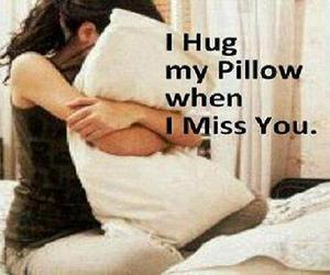 i miss you, my pillow, and when image