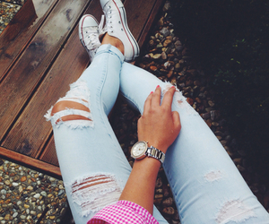 fashion, teens, and ripped jeans image