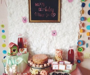 owl party candy bar image