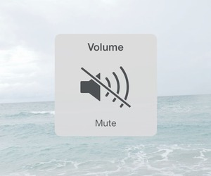 mute, volume, and sea image