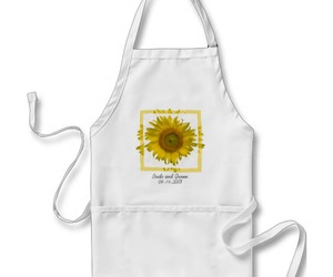 apron, floral, and aprons image